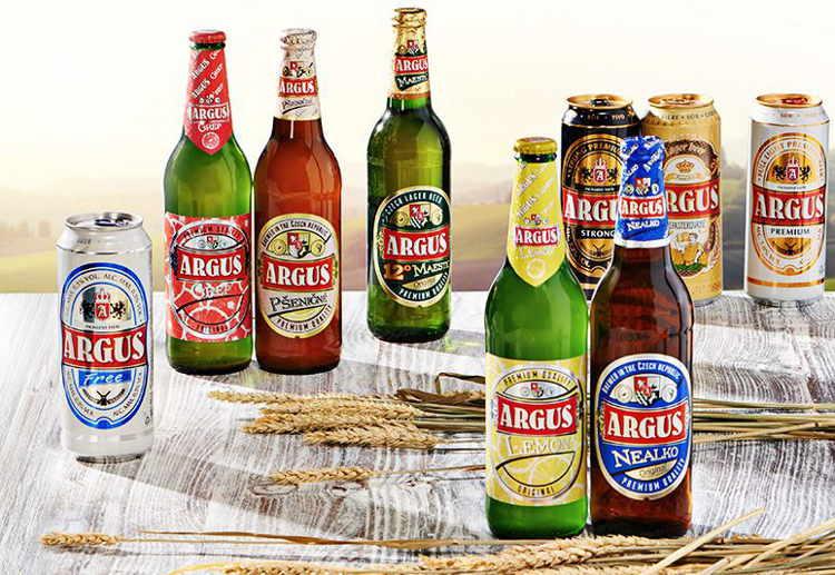 druhy piv privátní značky Argus