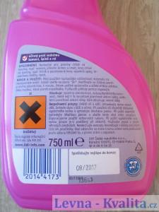 etiketa čisticího prostředku W5 z Lidlu