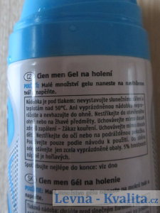 nádobka gelu na holení Cien z Lidlu
