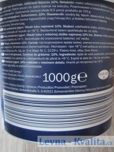 složení a výrobce na obalu jogurtu Milbona