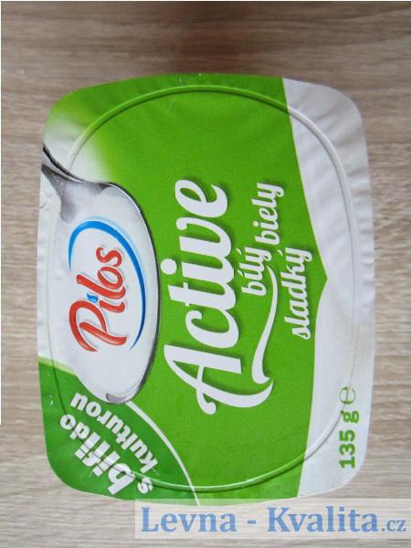 obal jogurtu s bifidokulturou Pilos z Lidlu