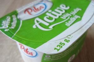 obal jogurtu Pilos z Lidlu