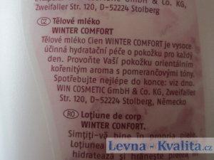 etiketa na obalu krému Cien Winter Comfort
