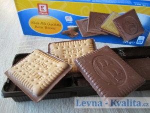 detailní pohled na máslové sušenky z Kauflandu