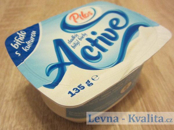 modrý obal jogurtu Pilos z Lidlu