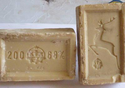 originální mýdlo s jelenem