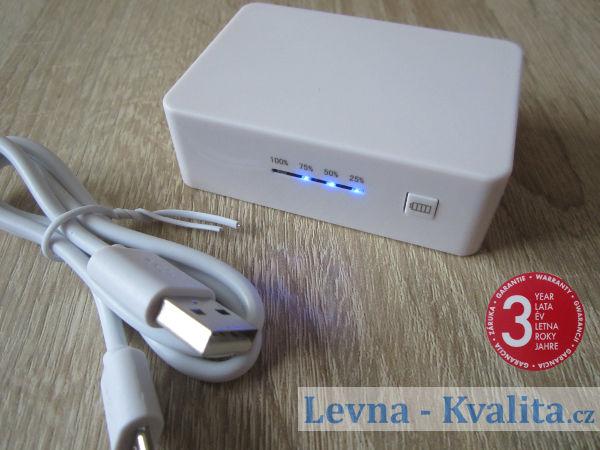 signalizace nabití power banky SilverCrest z Lidlu