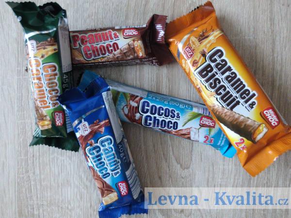 Rozházené čokoládové tyčinky Mister Choc z Lidlu