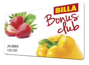 vzhled zákaznické karty billa bonus clubu