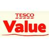 červené logo značky tesco value