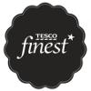 černé logo značky tesco finest