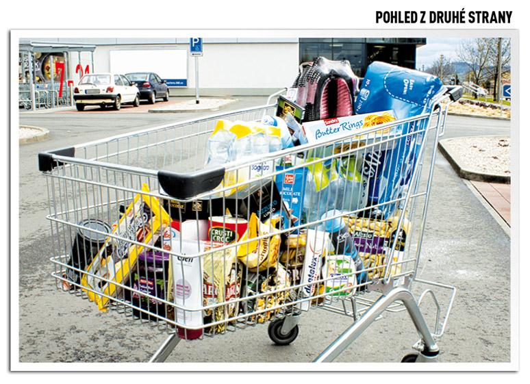 košík plný výrobků privátních značek Lidlu