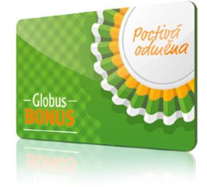 zelená věrnostní zákaznická karta globus bonus