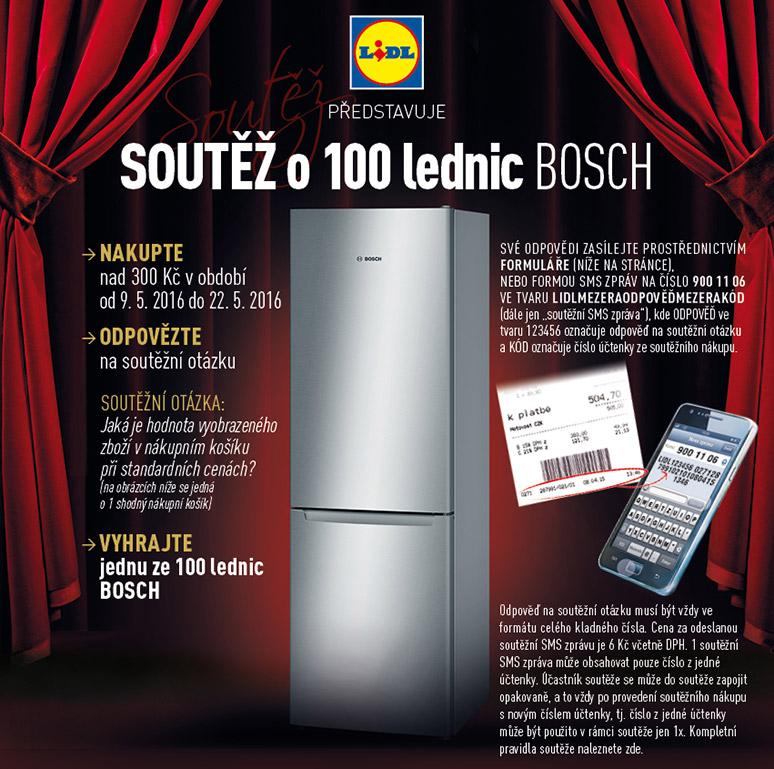 lednice bosch - výhra v soutěži lidlu