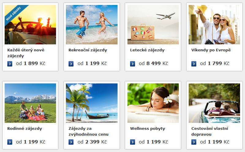 výběr dovolené cestovní kanceláře tchibo