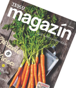 obálka magazínu tesco pro členy tesco klubu