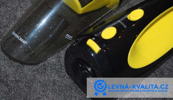 žluto černý AKU vysavač SIlverCrest