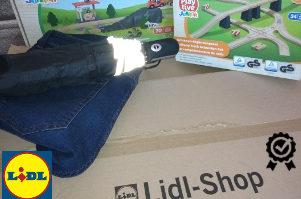 pohled na doručené zboží při zkušebním nákupu v Lidl e-shopu