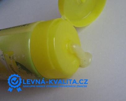 vymáčknutý gel značky Balea (DM drogérie)