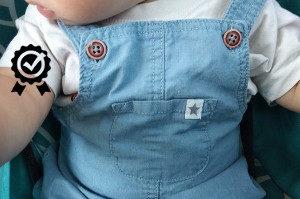 kalhoty s laclem značky Lupilu