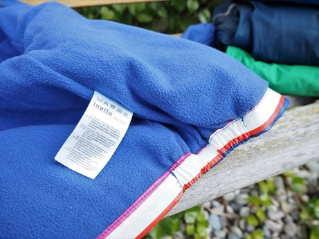 pohled na zateplenou část bundy Lupilu z Lidlu