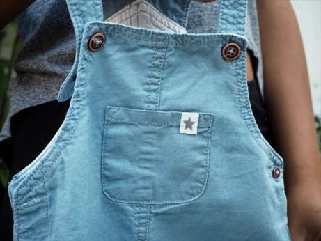 lněné kalhoty s laclem Lupilu