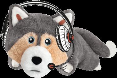plyšový pes husky chluptuber - frendik
