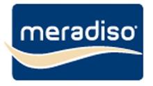 modro bílé logo značky meradiso z Lidlu