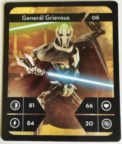Kartička Star Wars - Generál Grievous na výměnu