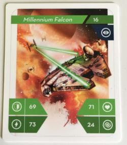 Kartička Star Wars - Millennium Falcon na výměnu