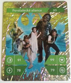 Stříbrná karta Star Wars z Kauflandu