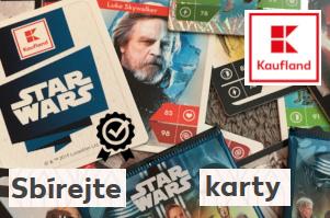 Herní karty Star Wars - věrnostní akce Kauflandu za nákupy