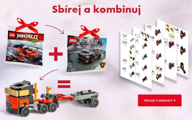 Kamion postavený z LEGA - složeno kombinací více setů - po kliknutí na obrázek získáte LEGO návod na stavbu kamionu